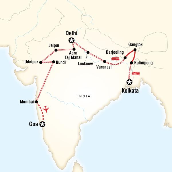 Kolkata to Goa by Rail in India, Asia - G Adventures