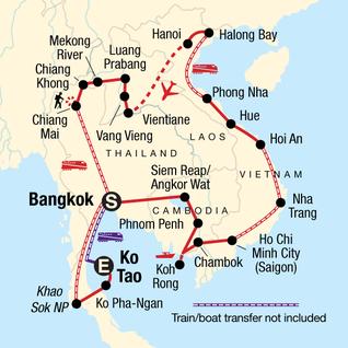 Map of Epic Indochina: River Cruises & Karst Mountains