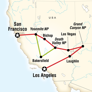 Map of Western Express Southbound