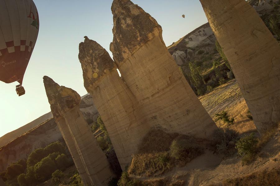Peek into the past through a window of stone into Turkey's arid landscape.