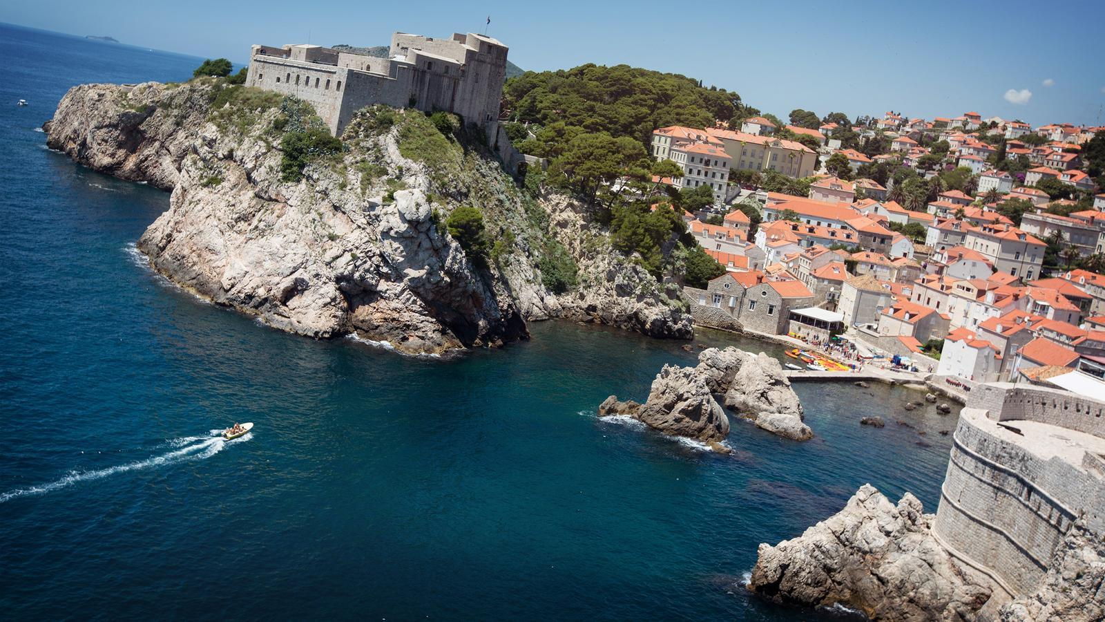 Aerial view of the magnificent city Dubrovnik, Croatia