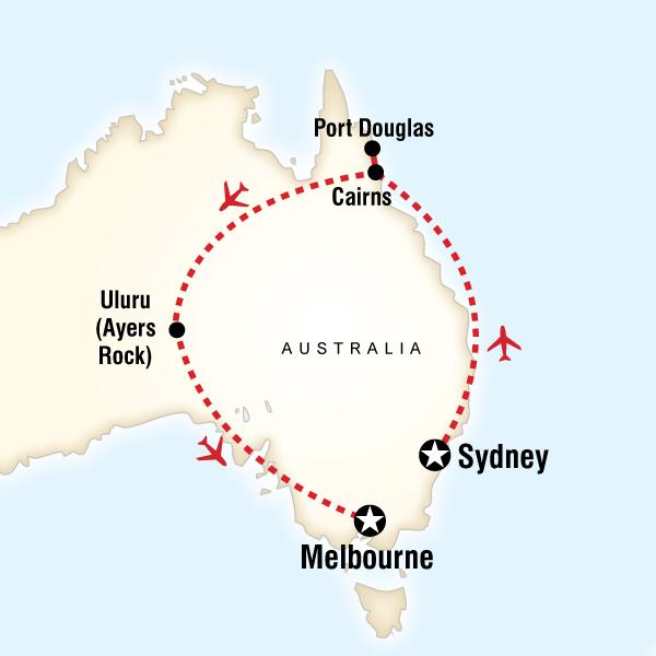 Explore Australia in Australia Australia Pacific G Adventures – Explore Australia Map