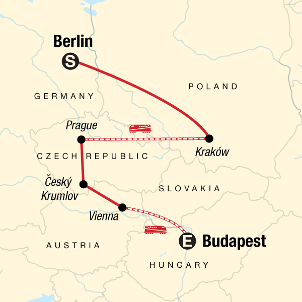 Map Of Germany And Hungary.The Best Of Eastern Europe In Czech Republic Europe G Adventures