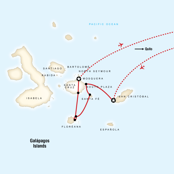 Galpagos Land  Sea  Central  Southern Islands aboard the