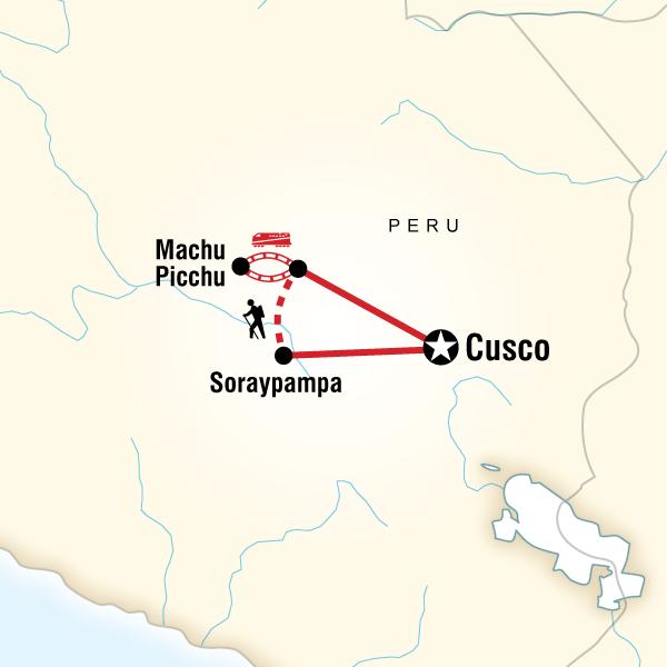 Aguas Calientes Peru Map.Salkantay Trek Machu Picchu In Peru South America G Adventures