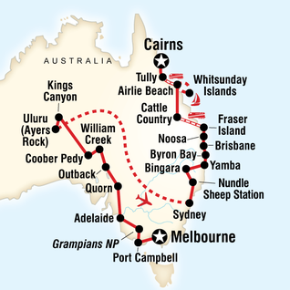 Map of Complete Australia