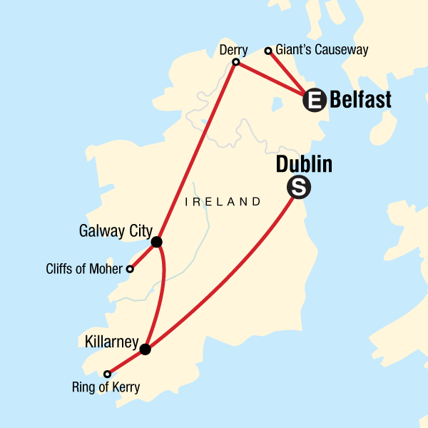 Galway On Map Of Ireland.Highlights Of Ireland In Ireland Europe G Adventures