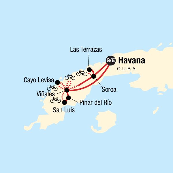 Karte Kuba Varadero.Kuba Mit Dem Fahrrad