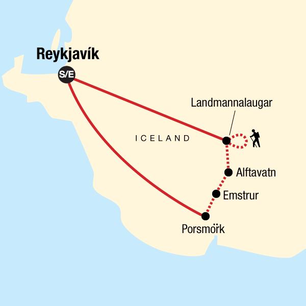 Trekking in Island – Laugavegur Trail