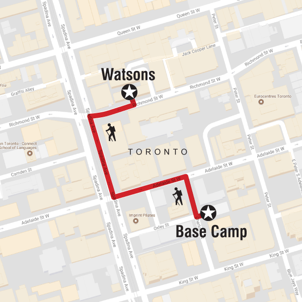 Map of the route for Staff Appreciation Day – Talent's Day Out