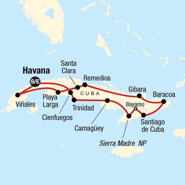 Karte Kuba.Kuba Mit Kleinem Budget In Kuba Mittelamerika G Adventures