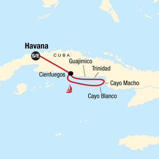 Map of Sailing Cuba - South Coast Explorer