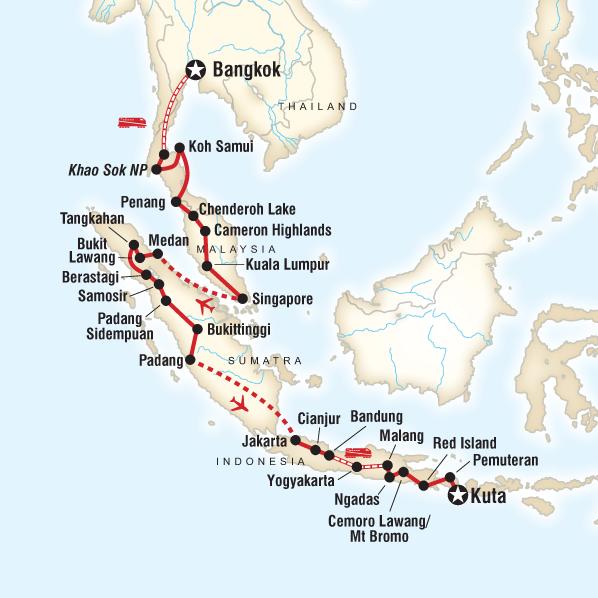 Epic Bangkok to Kuta in Malaysia, Asia - G Adventures
