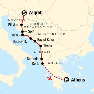 Croatia Adventure–Zagreb to Dubrovnik in Croatia, Europe - G