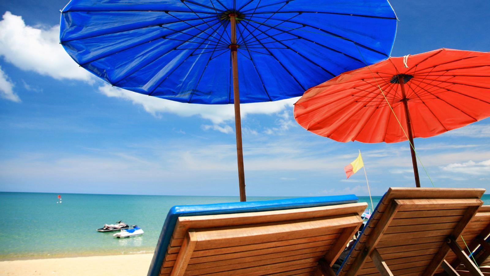 Beach chairs in Ko Samui