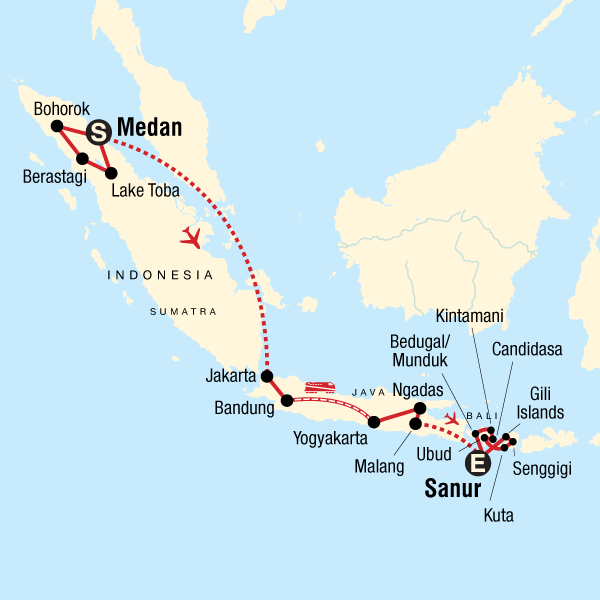 b241305d910c Map of the route for Indonesia Encompassed