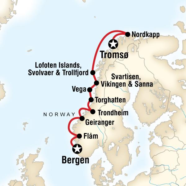 Cruise the Norwegian Fjords in Depth – Troms¸ to Bergen in Norway