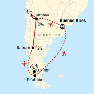 Map of Argentina Multisport