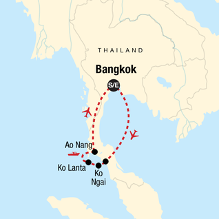 Map of Thailand Island Hopping – West Coast