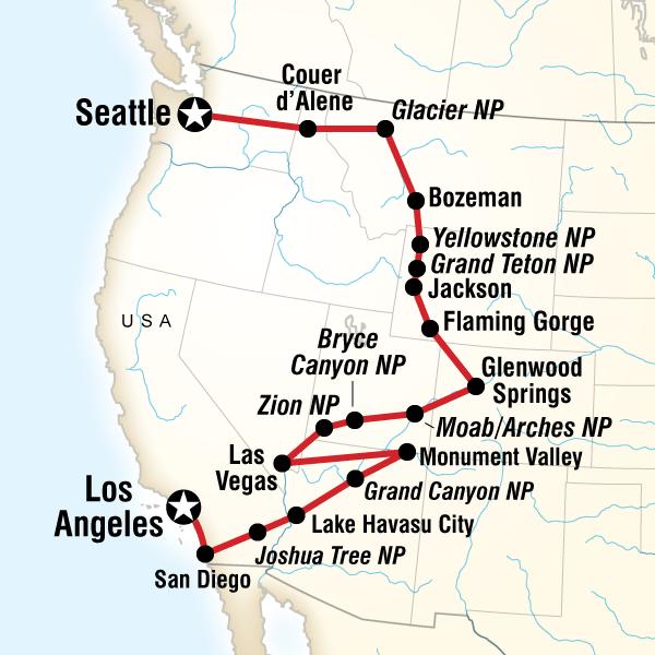 Roadtrip Von Los Angeles Nach Seattle In Vereinigte Staaten