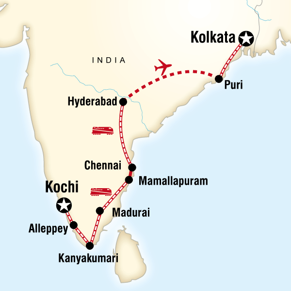 Southern India East Coast by Rail in India Asia G Adventures