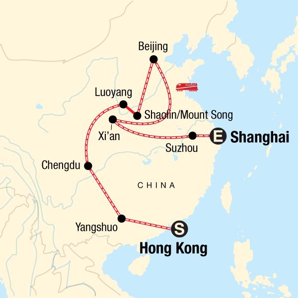 Karte China Hong Kong.Von Hongkong Nach Shanghai Mit Kleinem Budget