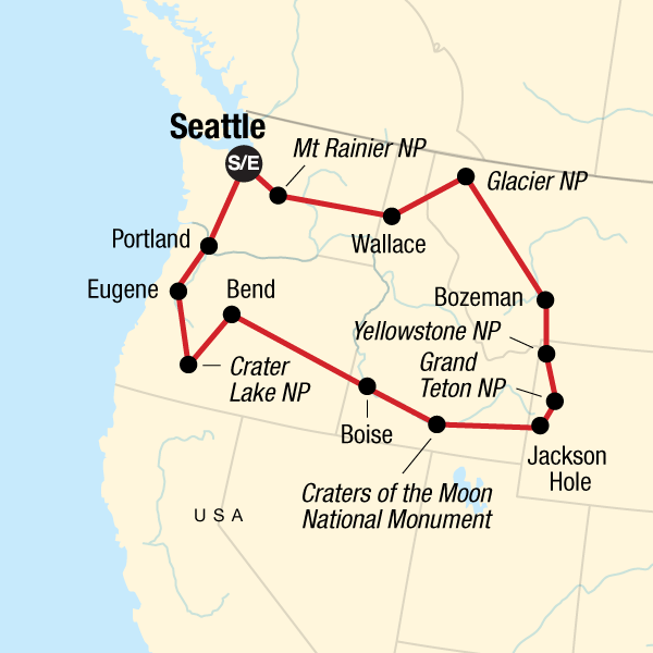 National Parks of the Northwest U.S. in United States, North ...