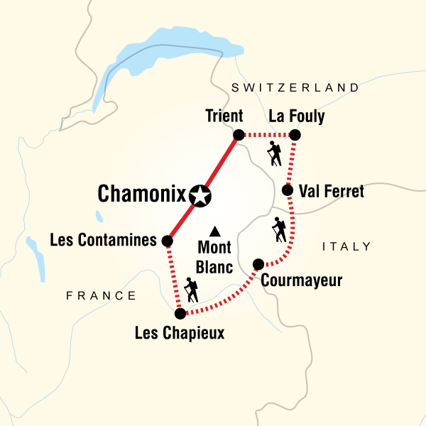 Mont Blanc France Map.Trekking Mont Blanc In France Europe G Adventures