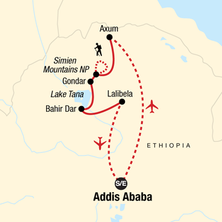 Map of Discover Ethiopia