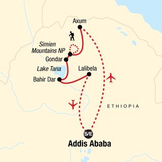 Map of Discover Ethiopia