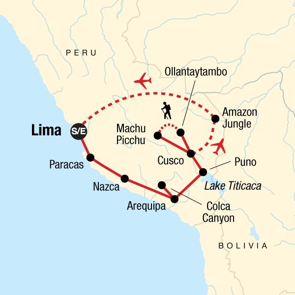 Peru Karte.Peru Total