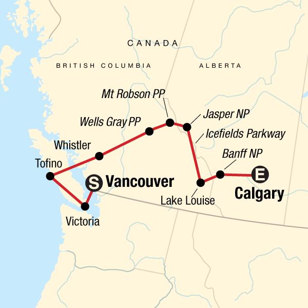 Nationalparks der Kanadischen Rockies Ostwärts in Kanada ...