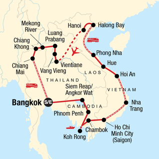 Map of Indochina Discovery: Seasides and Street Food