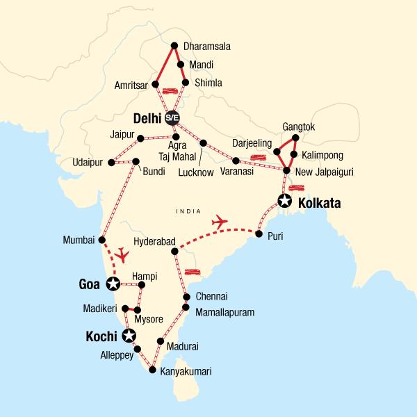 Haken-up-Seiten in Indien