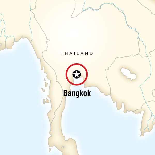 Map of the route for Bangkok Day Tour: One Night in Bangkok (half day)
