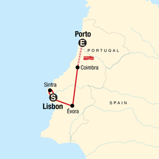 Map of Discover Portugal