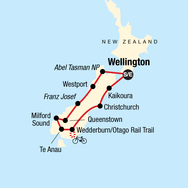 Map South Island Of New Zealand.New Zealand South Island Encompassed In New Zealand Australia