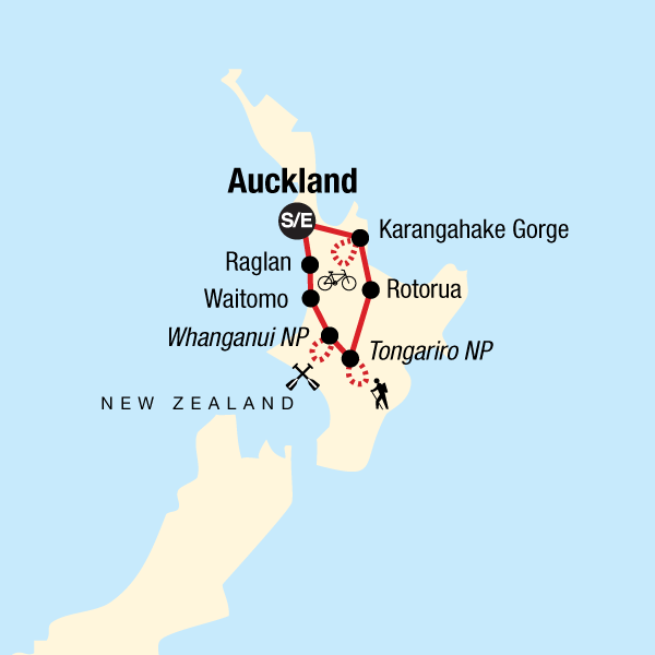 Map Of North Island New Zealand Towns.New Zealand North Island Multisport