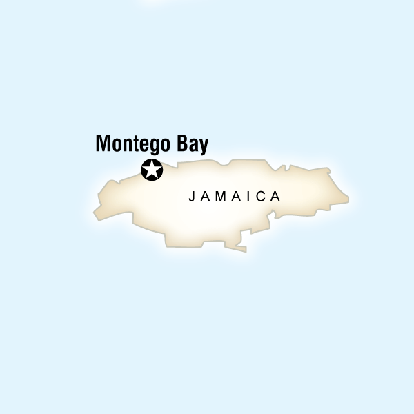 Map of the route for Jamaican Reggae Sumfest Experience