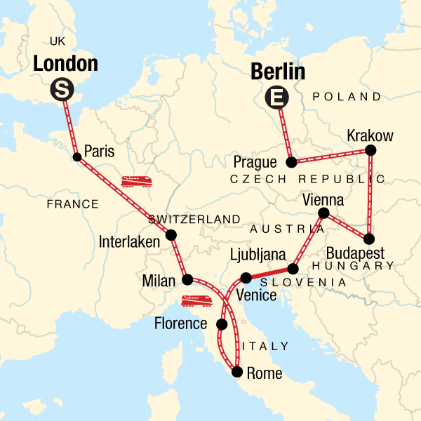 London to Berlin on a Shoestring in Italy, Europe - G Adventures