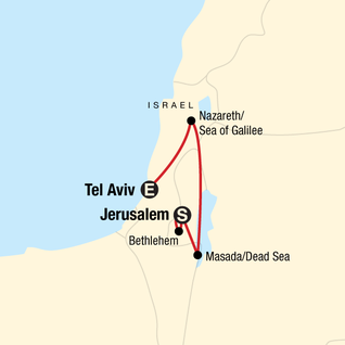 Map of Israel and Beyond