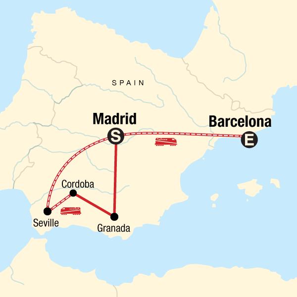 Map Of Spain Granada.Best Of Southern Spain In Spain Europe G Adventures