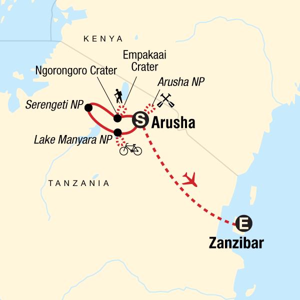 Map Of Africa Zanzibar.Active Safari Zanzibar Experience In Tanzania Africa G Adventures
