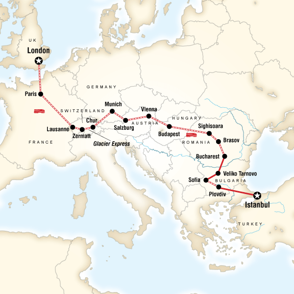 London To Istanbul By Rail In Romania, Europe