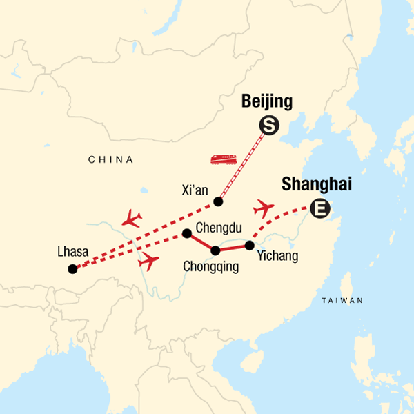 Iconic China: Beijing to Tibet in China, Asia - G Adventures on guitar map, ava map, katrina map, kobe map, kin map, korea map, uganda map, maya map,
