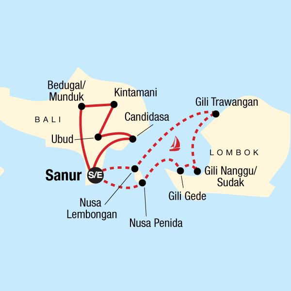 Carte Bali Lombok Gili.Classic Bali Sailing Adventure In Indonesia Asia G Adventures
