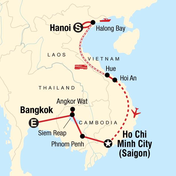 Kambodscha Karte.Vietnam Kambodscha Kompakt