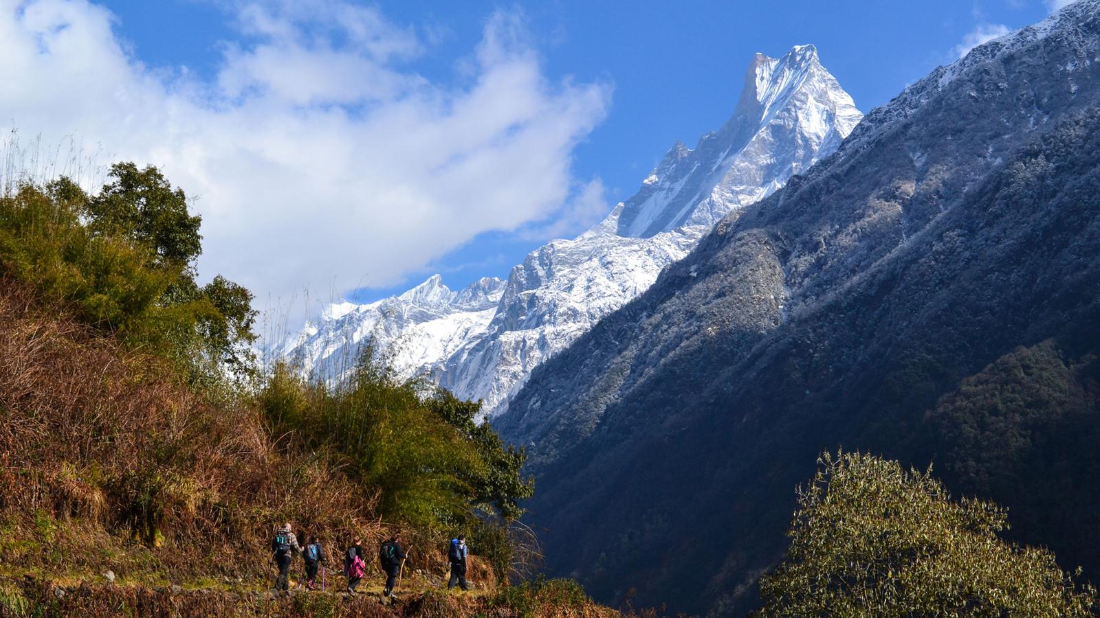 annapurna circuit trek in nepal  asia