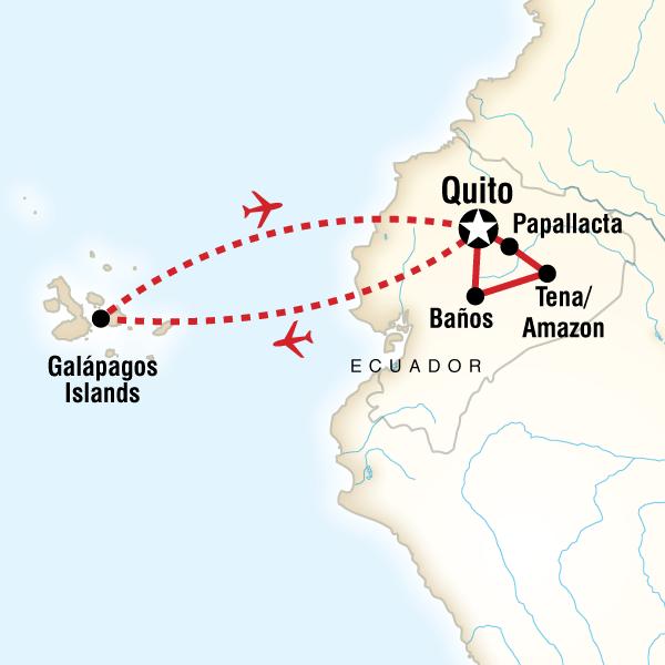 Ecuador Mainland  the Galpagos Islands in Ecuador South America
