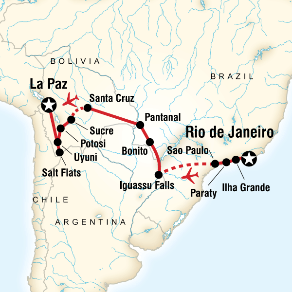 Atlantic to the Andes Experience in Brazil South America  G